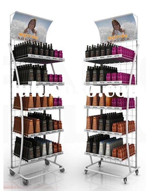 Multifunction display stand with 5 shelves and revolvable casters WJ-125A