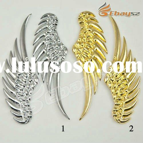 New Personal 3D Cool Fine Metal Wing Car Stickers LF-0756