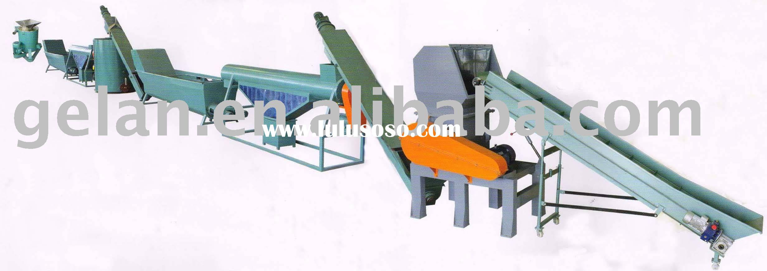 PET bottle flakes washing production line