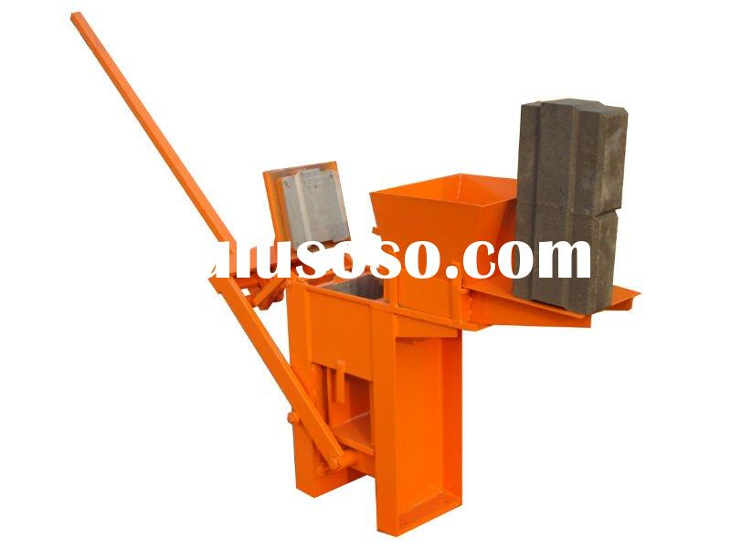QM1-40 interlocking manual brick making machine