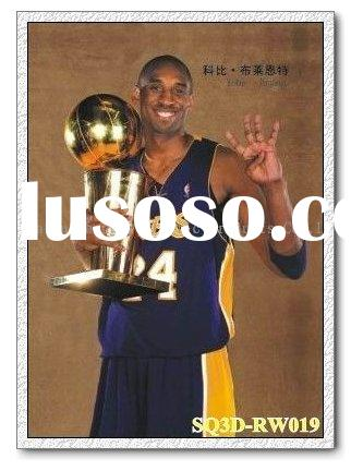 RW019,3D Sports Stars Paintings/Pictures,Lenticular Pictures of Kobe Bryant