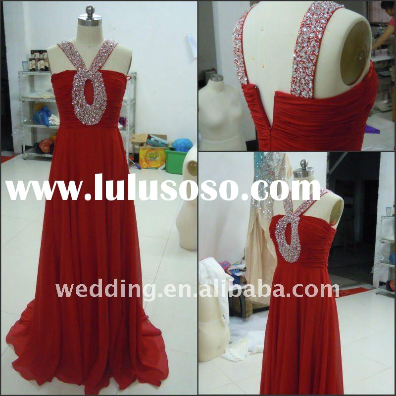 Real photo Customer made Beaded Evening Dress Prom Dress Of Christmas