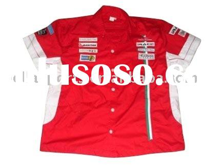 Rugby short sleeve red polo collar printed t shirts,motocycle racing jersey