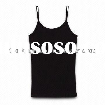 Tank Tops, Made of Bamboo Fiber Jersey, Customized Designs are Accepted, OEM/ODM Orders are Welcome