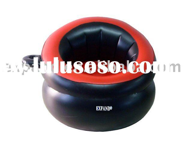 UFO Inflatable Bean Bag Chair With Cup Holder