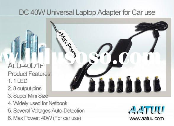 UL standard DC 40W Laptop Car Power Supply