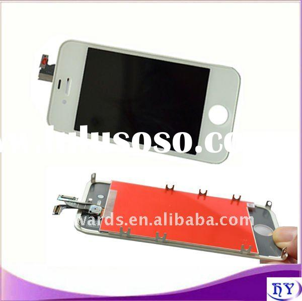 White lcd with digitizer assembly for iphone 4gs