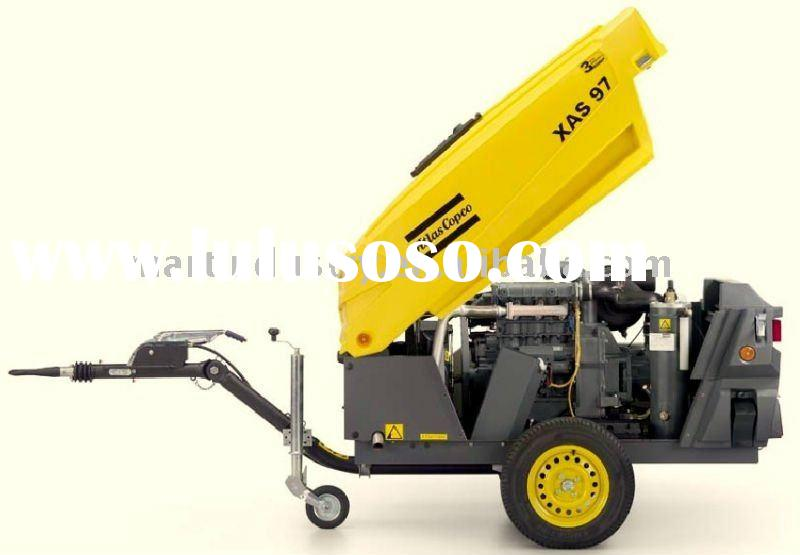 XAS97 PE shell Atlas Copco portable air compressor with deutz diesel engine (5.3m3/min 7bar)