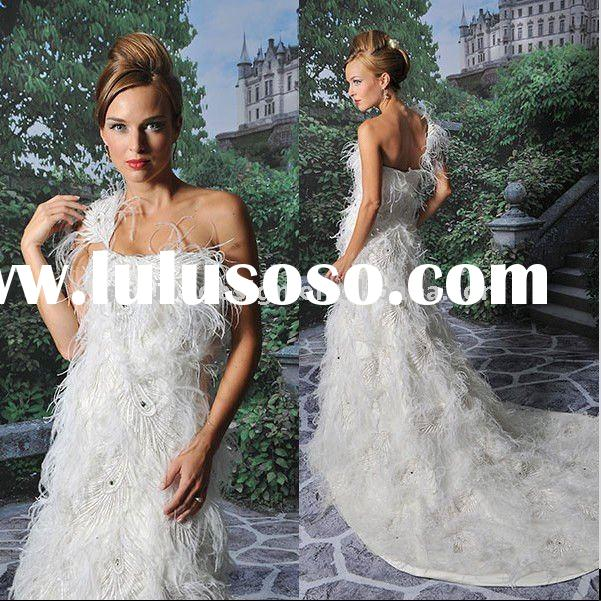YF033 2011 stylish one shoulder ball gown bridal gowns wedding dress