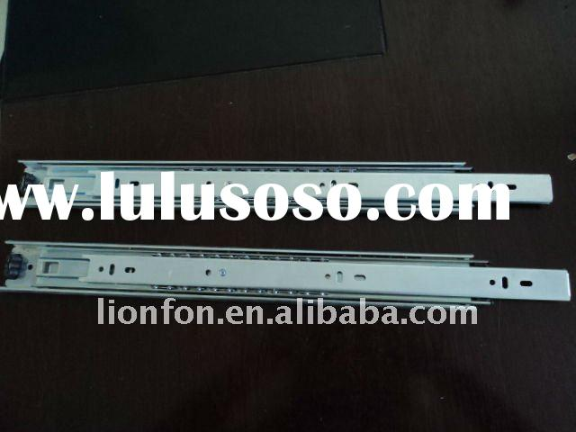[250-600mm] Full Extension Soft Closing Three Fold Ball Bearing Drawer Tracks /Telescope Sliding Tra