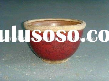 antique flower pot ceramic pot bowl shape pot