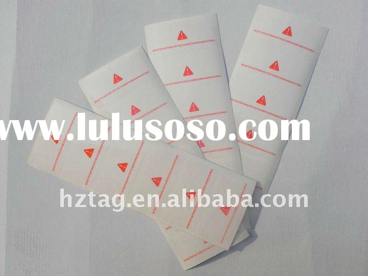 attention/warning PVC transparent adhesive labels/sticker printed for machine&electrical