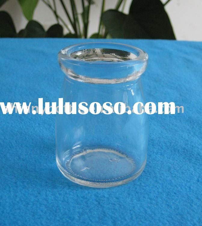 best quality clear glass milk bottle with plastic lid