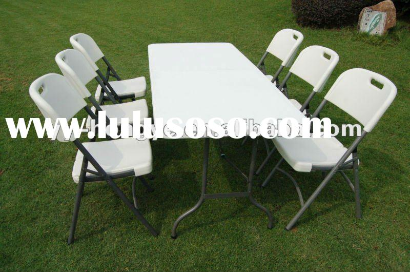 blow mould folding plastic table and chair set, garden funiture