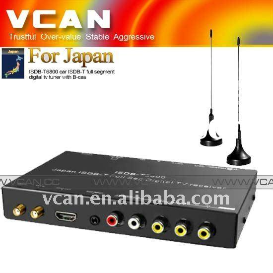 car ISDB-T B-cas,digital tv receiver,two tuner two antenna,ISDB-T6800