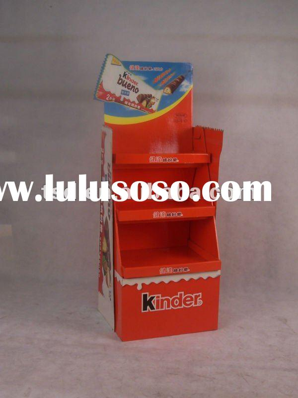 chocolate cardboard pallet stand/ cardboard display/ cardboard stand