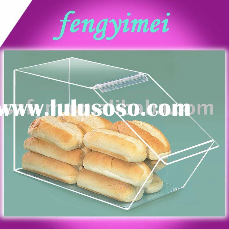clear acrylic bakery display case,acrylic food display case,acrylic bakery display