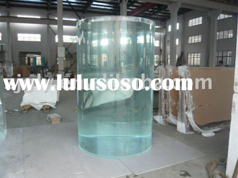 cylindrical acrylic aquariums/fish tanks for place of public entertainment