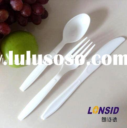 disposable plastic cutlery spoon fork knife set (High Quality)