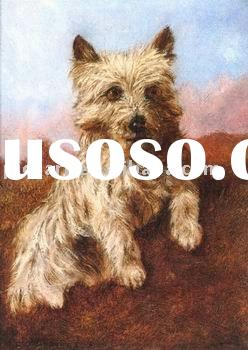 dog paintings 100% handmade oil painting at good price