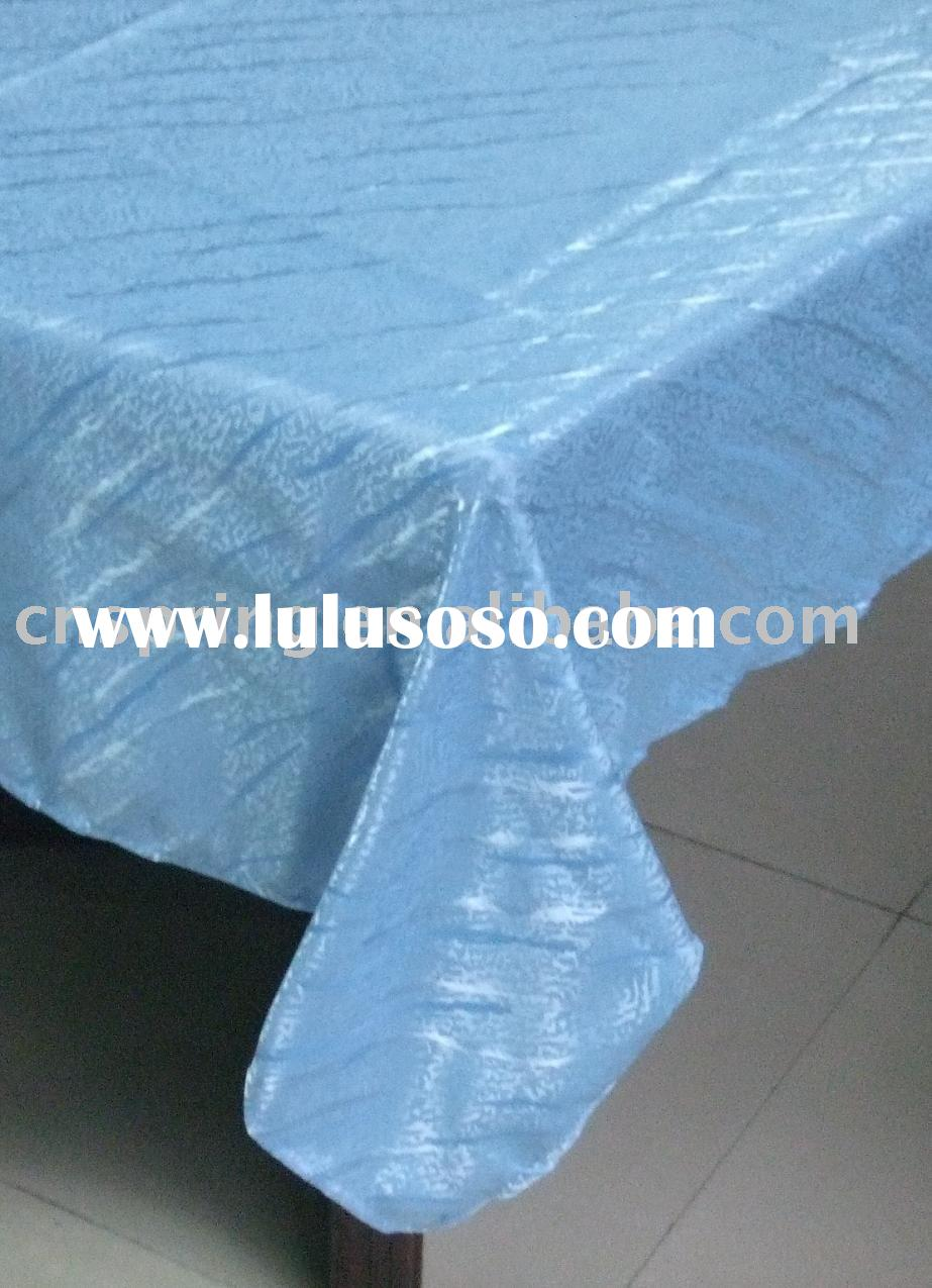 fabric tablecloth, solid jacquard tablecloth