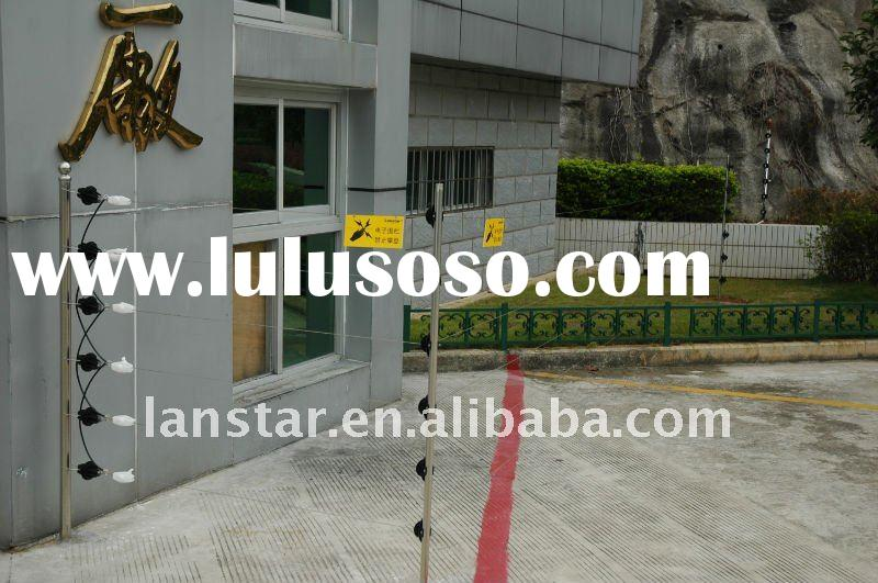 factory perimeter security solution---electric fence wire fence with alarm system Brand of Lanstar