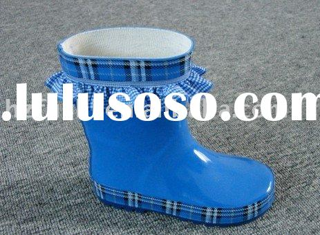 fashion kid's rubber boots