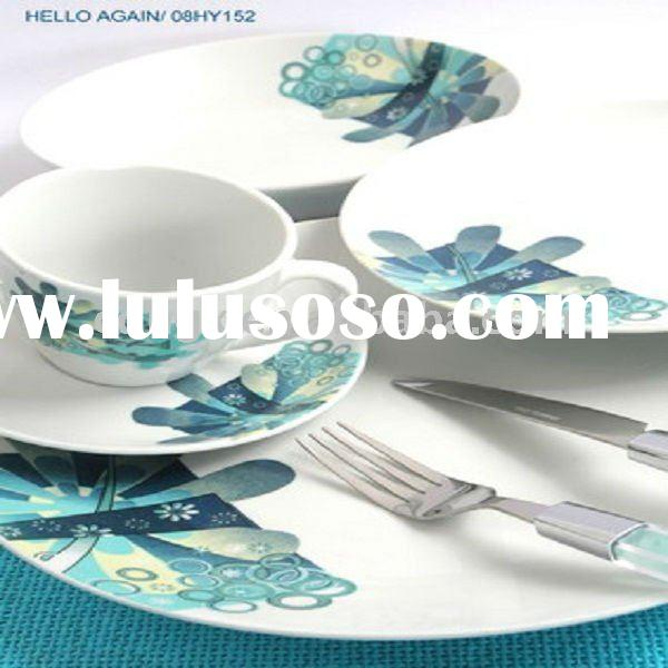 fine on- glazed porcelain dinner plate ceramic tableware royal coffee sets tea sets porcelain plate