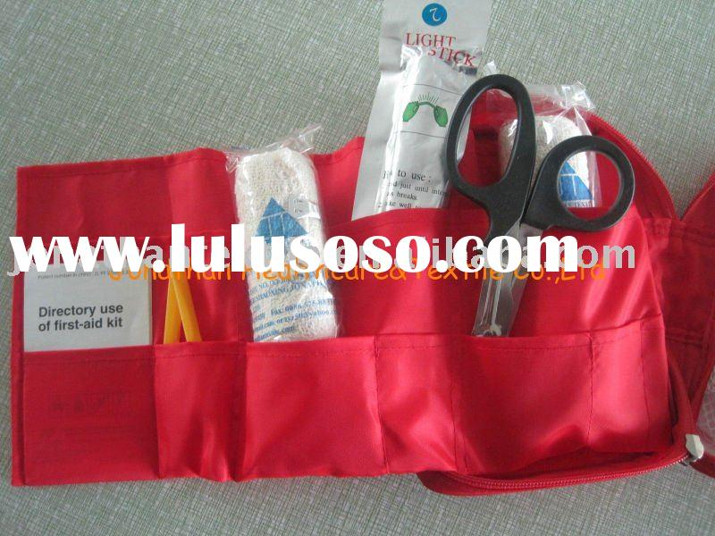 first aid kits, in canvas roll up bag