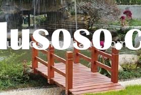 good sales high quality wooden bridge in garden