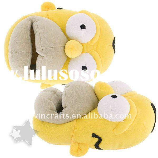 homer plush slippers for men