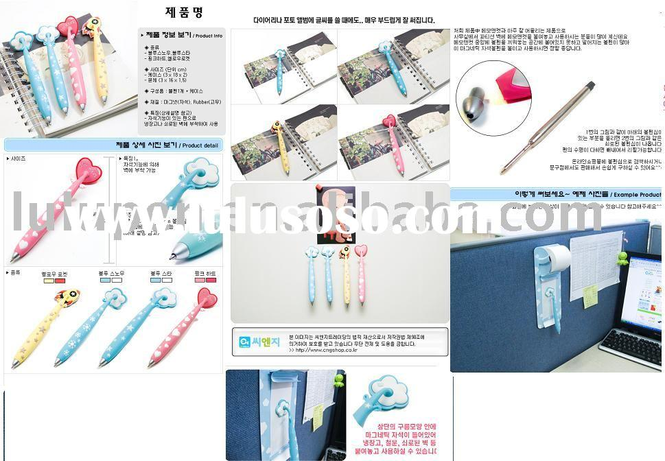 magnet pen/rubber pen/magnet ball pen/silicone pen with magnet
