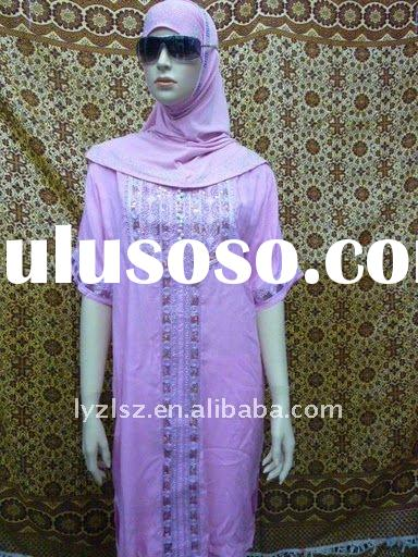 newest chiffon muslim clothes with pants high quality islamic clothing fation lady clothing