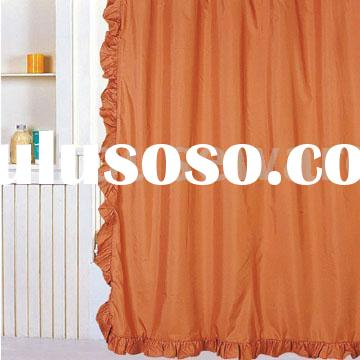 Burnt Orange Sheer Curtains Shower Curtain Complete Set