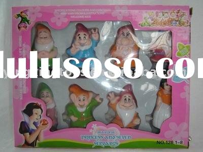 plastic wind up Snow White and the Seven Dwarfs