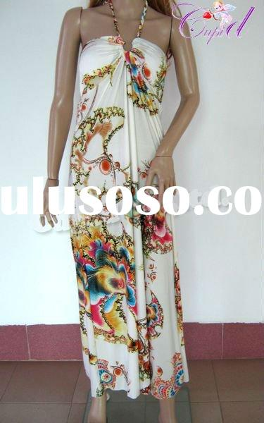 plus size women viscose maxi dress from China accept Paypal