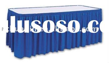 polyester scuba table skirting banquet polyester jersey table skirt