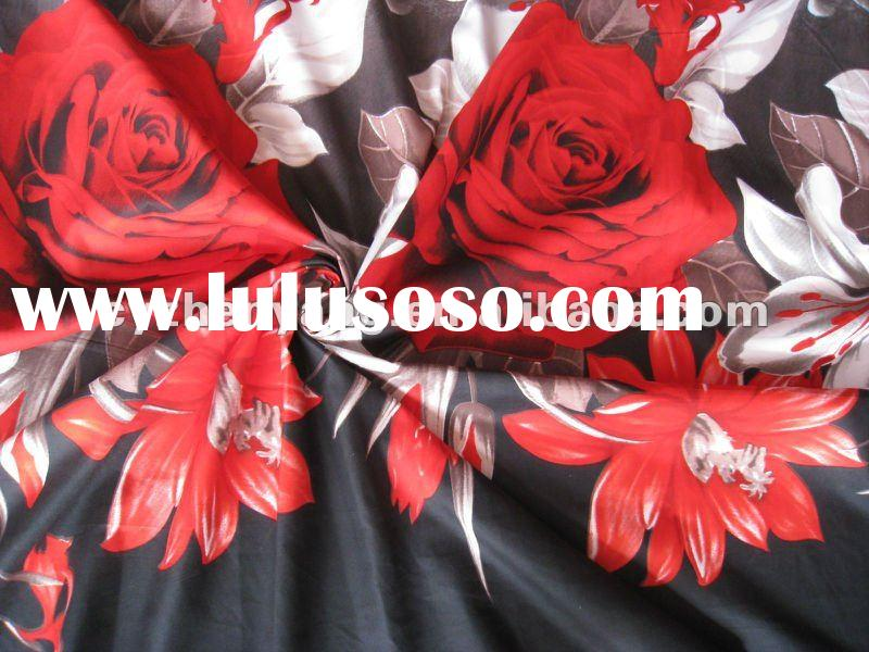 printed polyester fabric / bedsheet fabric / hotel bedsheet fabric / derss fabric / clothing fabric