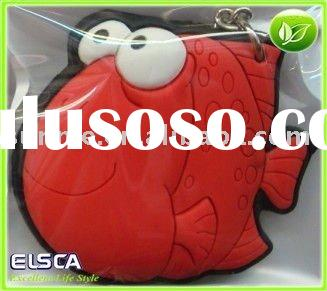red fish soft pvc key chain