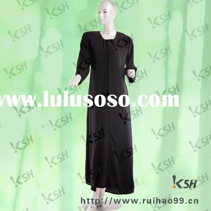 simple black polyester islamic clothing women in dubai design