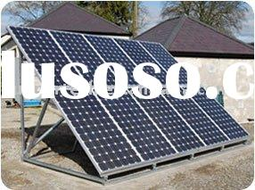 solar panel installed on ground, solar power grid system, solar pv modules