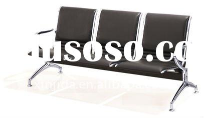 steel leather waiting chairs,Metal waiting chairs,airport waiting chairs,leather waiting chairs.