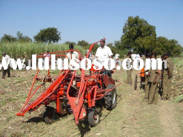 sugarcane harvest machine in India Demo