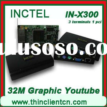 terminal server with 32 bit graphic card,HDD video supported, can play fullscreen youtube