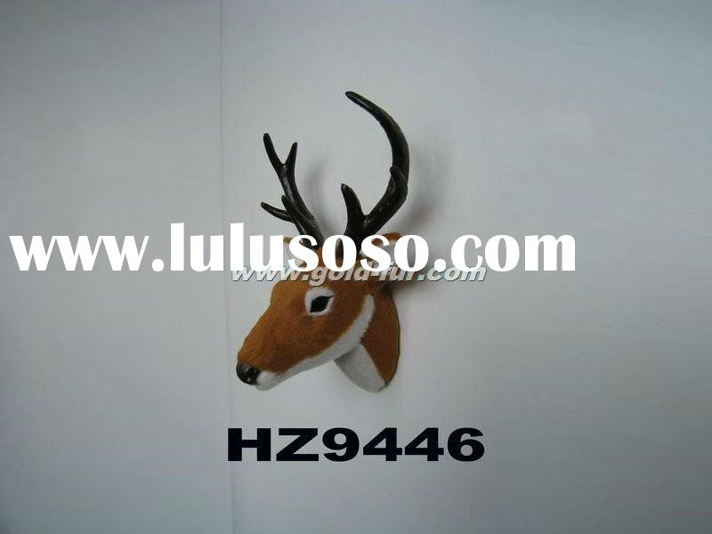 wall-mounted deer head, deer head decoration,yellow deer head,artificial deer head