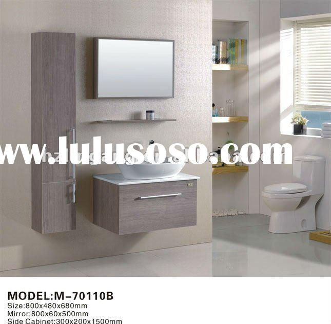 wooden wall mouted modern style mirror bathroom cabinet vanity unit