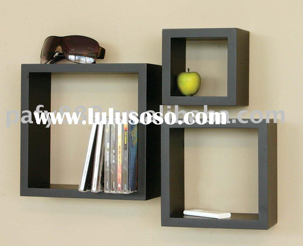 wooden wall shelf cd rack