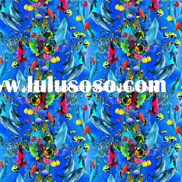 100 cotton fabric cotton prices / fish print cotton fabric