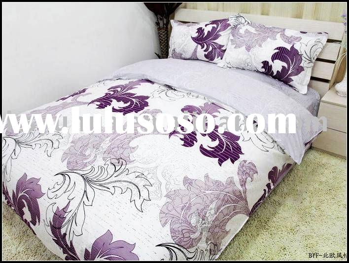 100% cotton reactive print adult bedding set /bed sheet set -Model015