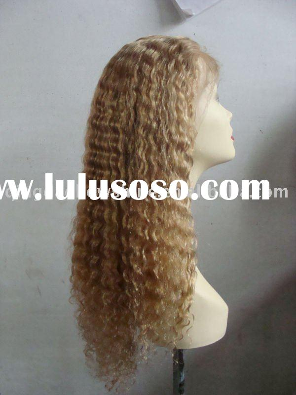 100% india remy hair with Baby hair lace front wig